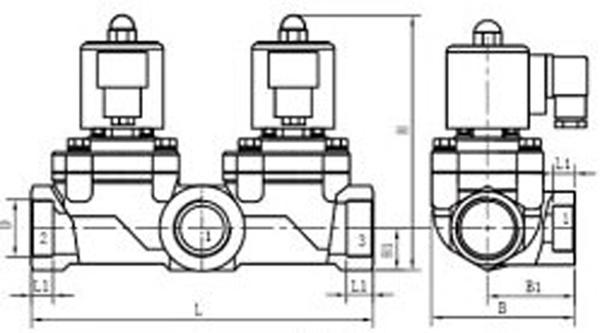 两位三通电磁阀结构图